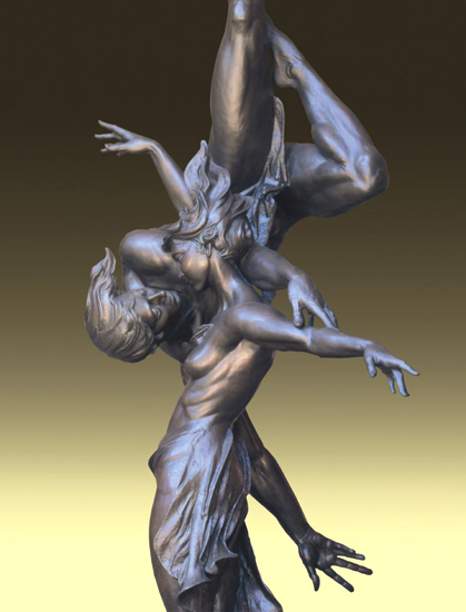 - Wedlock - Bronze sculpture by Barry Johnston