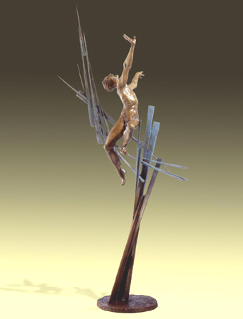 - Chaos - Bronze sculpture by Barry Johnston