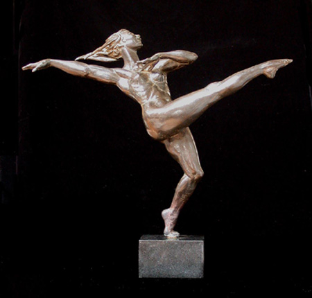 Dancer (Small) - Bronze sculpture by Barry Johnston
