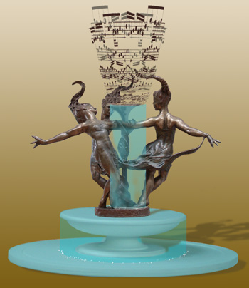 - Muses and Music - Bronze sculpture by Barry Johnston