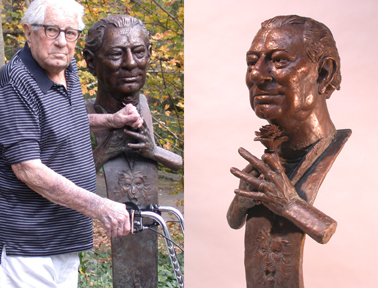 - Gil Guillory - Bronze Bust by Barry Johnston