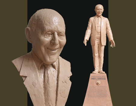 - Louis Goldstein - Bronze Bust by Barry Johnston