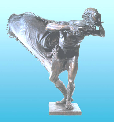 - King Lear - Bronze sculpture by Barry Johnston