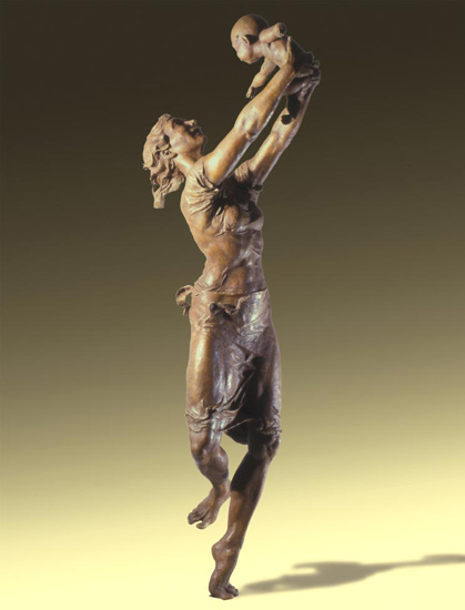 Joy - Bronze sculpture by Barry Johnston