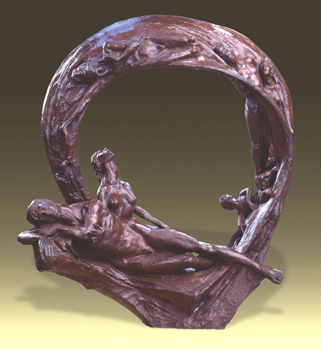 One Flesh - Bronze sculpture by Barry Johnston