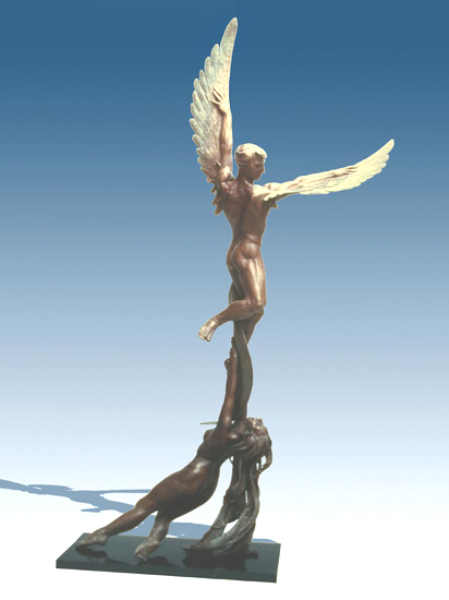 Psyche and Cupid - Bronze Sculpture by Barry Johnston