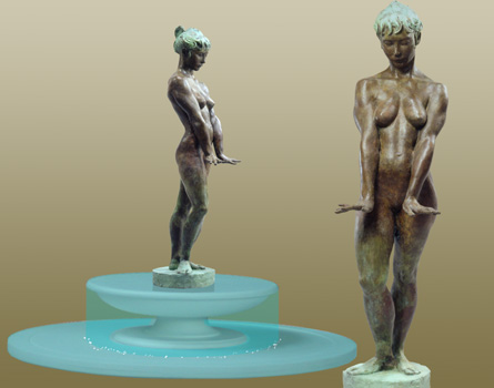 - Temperance Fountain - Bronze sculpture by Barry Johnston