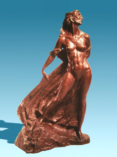 Tempest - Bronze sculpture by Barry Johnston