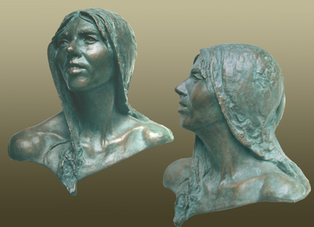 - Judy Tolley - Bronze Bust by Barry Johnston