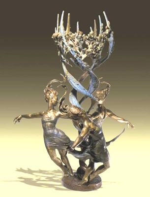 - Whipping Up Spring - Bronze sculpture by Barry Johnston